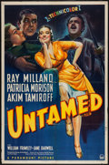 "Movie Posters:Adventure, Untamed (Paramount, 1940). One Sheet (27"" X 41""). Adventure.. ..."