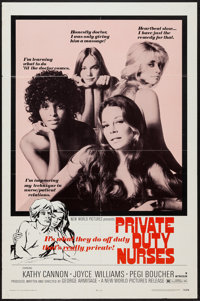 """Private Duty Nurses & Other Lot (New World, 1971). One Sheet (27"""" X 41"""") & Locally Produced One Sheet..."""