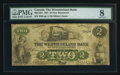 Canadian Currency: , Moncton, NB - The Westmoreland Bank $2 Aug. 1, 1861 Ch. #800-12-04. ...