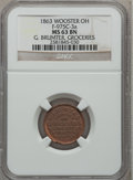 Civil War Merchants, 1863 G. Brumter, Groceries, Wooster, OH, MS63 Brown NGC.Fuld-OH975C-3a....