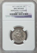 Seated Quarters: , 1873 25C Arrows -- Improperly Cleaned -- NGC Details. Unc. NGCCensus: (4/116). PCGS Population (4/114). Mintage: 1,271,700...