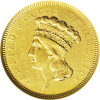1854-O $3 --Tooled--ANACS. AU50 Details. Overall, a bold and collectible example of this scarce issue, which is requisit...
