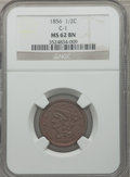 Half Cents: , 1856 1/2 C MS62 Brown NGC. C-1. NGC Census: (66/108). PCGSPopulation (44/71). Mintage: 40,430. Numismedia Wsl. Price for ...