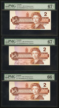Canadian Currency: , BC-55cA-i $2 1986 Replacement Notes, Three Consecutive Examples.... (Total: 3 notes)