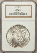 Morgan Dollars: , 1898-O $1 MS65 NGC. NGC Census: (12195/2036). PCGS Population(11091/2012). Mintage: 4,440,000. Numismedia Wsl. Price for p...