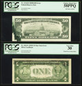 Error Notes:Error Group Lots, Fr. 1614* $1 1935E Silver Certificate. PCGS Very Fine 30; Fr.2116-B $50 1969B Federal Reserve Note. PCGS Choice About New 58P...(Total: 2 notes)