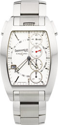 Timepieces:Wristwatch, Eberhard Co. Chrono 4 Temerario Steel Wristwatch. ...