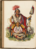 Books:Color-Plate Books, Thomas L. M'Kenney [McKenney] and James Hall. History of theIndian Tribes of North America. Philadelphia; Danie... (Total:3 Items)