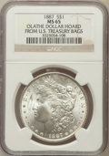 Morgan Dollars, 1887 $1 Olathe Dollar Hoard MS65 NGC. Ex: From U.S. Treasury Bags.NGC Census: (25429/3994). PCGS Population (14775/146...