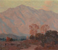 Western:20th Century, EDGAR ALWIN PAYNE (American, 1883-1947). Sunset on the Foothills (Pasadena). Oil on canvas. 24 x 28-1/4 inches (61.0 x 7...