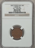 Civil War Merchants, 1863 R.C. Graves, Wheeling, WV, MS63 Brown NGC. Fuld-WV890D-4a....