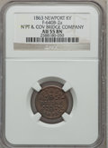 Civil War Merchants, 1863 N'pt & Cov Bridge Company, Newport, KY, AU55 NGC.Fuld-KY640B-2a....