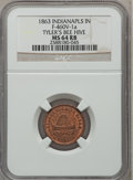 Civil War Merchants, 1863 Tyler's Bee Hive, Indianapolis, IN, MS64 Red and Brown NGC.Fuld-IN460V-1a....