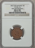 Civil War Merchants, 1863 Wm Frankfurth, Milwaukee, WI, MS61 Brown NGC.Fuld-WI510L-1a....