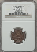 Civil War Merchants, 1863 Thos. Falvey, Racine, WI, VF25 NGC. Designated by NGC asFuld-WI700G-4a, but the stock reverse die is 1026 instead of 111...