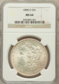 Morgan Dollars: , 1898-O $1 MS64 NGC. NGC Census: (30665/14231). PCGS Population(27116/13103). Mintage: 4,440,000. Numismedia Wsl. Price for...