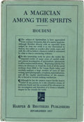 Books:Metaphysical & Occult, [Harry] Houdini. A Magician Among the Spirits. Harper &Brothers, 1924. First edition. Presentation copy, inscribe...