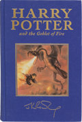 Books:Children's Books, J. K. Rowling. Harry Potter and the Goblet of Fire. London:Bloomsbury, [2000]. First Deluxe edition. Signed by th...
