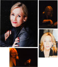 Books:Photography, J. K. Rowling (Author of the Harry Potter Series). Signed Photo.[N.p., n.d., ca. 2002]. A lovely full-color print (with the...(Total: 4 Items)