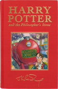 Books:Children's Books, J. K. Rowling. Harry Potter and the Philosopher's Stone.London: Bloomsbury, [1999]. First Deluxe edition, first pri...