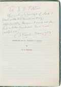 Books:Manuscripts, C. S. Forester. Hornblower and St. Elizabeth of Hungary.[n.p., n.d., ca. 1956]. Original carbon copy (and working t...