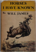 Books:Biography & Memoir, Will James. Horses I Have Known. Scribners, 1940. First edition, first printing. Toning to publisher's cloth with st...