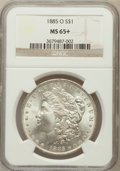 Morgan Dollars, 1885-O $1 MS65+ NGC. NGC Census: (26141/4872). PCGS Population(17509/2423). Mintage: 9,185,000. Numismedia Wsl. Price for ...