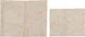 Miscellaneous:Ephemera, [Siege of Vicksburg]. Jordan C. Harriss Autograph Letter Signed....