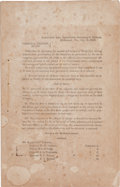 Miscellaneous:Ephemera, Confederate Roll of Honor for Multiple Battles Including Murfreesboro, Chancellorsville, and Gettysburg....