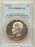 Proof Eisenhower Dollars: , 1977-S $1 PR69 Deep Cameo PCGS. PCGS Population (13813/13). NGCCensus: (697/0). Numismedia Wsl. Price for problem free NG...