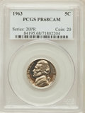 Proof Jefferson Nickels: , 1963 5C PR68 Cameo PCGS. PCGS Population (228/87). NGC Census:(401/195). Numismedia Wsl. Price for problem free NGC/PCGS ...