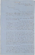 Miscellaneous:Ephemera, [Civil War] and [Battle of Perryville]. Period Fair Copy of theReport of the Battle by Confederate General Leonidas Polk ...
