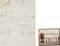 """Autographs:Celebrities, William F. """"Buffalo Bill"""" Cody Typed Letter Signed,... (Total: 2Items)"""