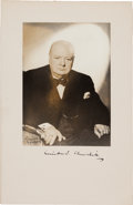 Autographs:Non-American, Winston Churchill Photograph Signed...