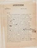 Autographs:U.S. Presidents, Theodore Roosevelt Typed Letter Signed.... (Total: 3 Items)