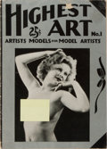 Books:Photography, [Nude Photography]. Highest Art. No. 1. New York: Nuregal, [n.d., ca. 1920's]. Original printed wrappers. Some w...