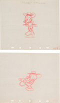 Animation Art:Production Drawing, Mickey Mouse The Little Whirlwind Production DrawingAnimation Art Group (Disney, 1941).... (Total: 2 Original Art)