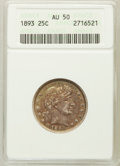 Barber Quarters: , 1893 25C AU50 ANACS. NGC Census: (1/258). PCGS Population (8/348). Mintage: 5,444,815. Numismedia Wsl. Price for problem fr...