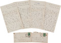 Autographs:Military Figures, William T. Sherman: Group of Four Letters....