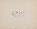 Animation Art:Production Drawing, Mickey Mouse Camping Out Production Drawing Animation Art(Disney, 1934)....