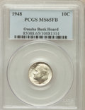 Roosevelt Dimes, 1948 10C MS65 Full Bands PCGS. Ex: Omaha Bank Hoard. PCGSPopulation (206/175). NGC Census: (52/202). Mintage: 74,950,000....