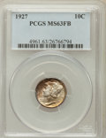 Mercury Dimes: , 1927 10C MS63 Full Bands PCGS. PCGS Population (95/558). NGCCensus: (21/237). Mintage: 28,080,000. Numismedia Wsl. Price f...