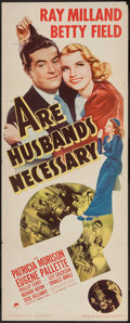 """Movie Posters:Comedy, Are Husbands Necessary? (Paramount, 1942). Insert (14"""" X 36""""). Comedy.. ..."""