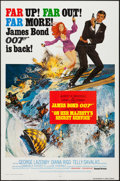 "Movie Posters:James Bond, On Her Majesty's Secret Service (United Artists, R-1980). One Sheet(27"" X 41"") Style B. James Bond.. ..."