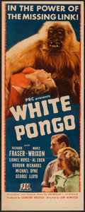"Movie Posters:Adventure, White Pongo (PRC, 1945). Insert (14"" X 36""). Adventure.. ..."
