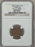 Civil War Merchants, 1863 Dr. L.C. Rose, Detroit, MI, AU50 NGC. Fuld-MI225BL-2a....