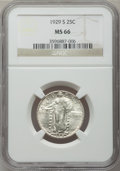 Standing Liberty Quarters: , 1929-S 25C MS66 NGC. NGC Census: (122/21). PCGS Population (106/9).Mintage: 1,764,000. Numismedia Wsl. Price for problem f...
