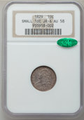 Bust Dimes: , 1829 10C Small 10C AU58 NGC. CAC. JR-6. NGC Census: (36/171). PCGSPopulation (18/121). Mintage: 770,000. Numismedia Wsl. ...