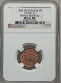 Civil War Merchants, 1863 Empire Brewery, Milwaukee, WI, MS61 Red and Brown NGC.Fuld-WI510C-1a....