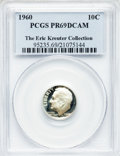 Proof Roosevelt Dimes: , 1960 10C PR69 Deep Cameo PCGS. Ex: The Eric Kreuter Collection.PCGS Population (125/0). NGC Census: (74/0). Numismedia Ws...